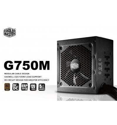 Cooler Master G750M 750W 80 Plus Bronze Modular