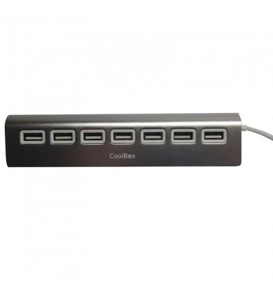 Hub Coolbox Alu-2 Aluminio 7 puertos USB 2.0