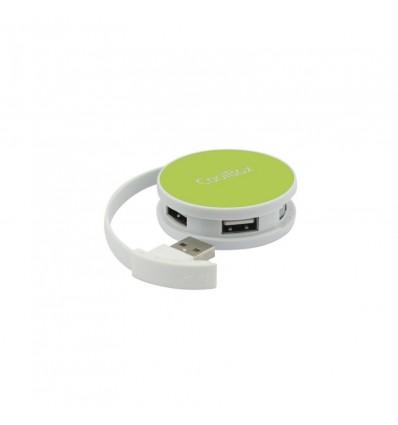 HUB USB Coolbox Smart verde USB 2.0 4 puertos