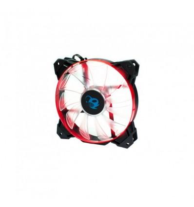 Coolbox Deepwind Ventilador 12cm LED Rojo