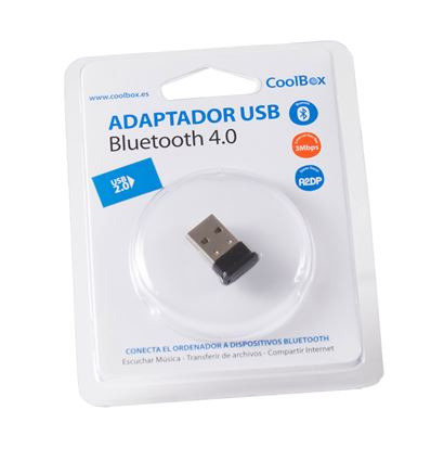 ADAPTADOR COOLBOX BLUETOOTH 4.0 USB MINI - AD01CB02-1