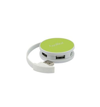 HUB USB COOLBOX SMART VERDE USB 2.0 4 PUERTOS - HB01CB04