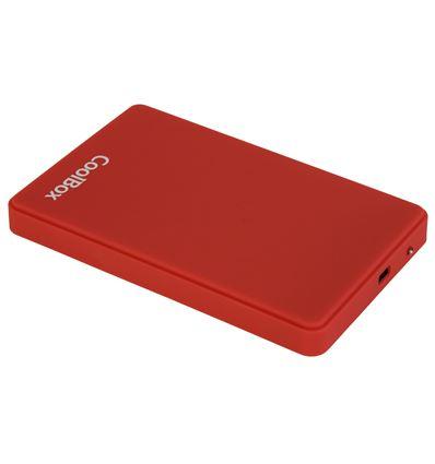 CAJA EXTERNA COOLBOX SCG2542 ROJO 2.5 USB 2.0 - CJ05CB03