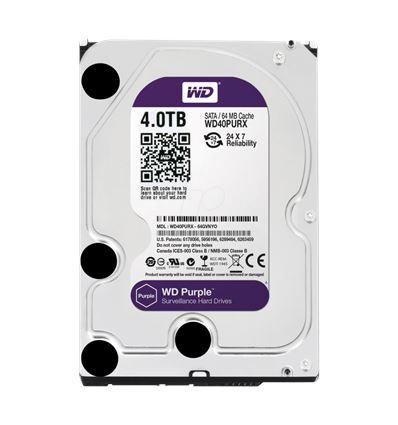 DISCO DURO WESTERN DIGITAL PURPLE 4TB 3.5 WD40PURX - HD01WD23