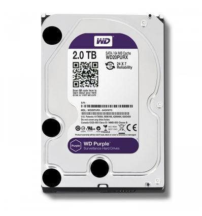 DISCO DURO WESTERN DIGITAL PURPLE 2TB 3.5 WD20PURX - HD01WD18