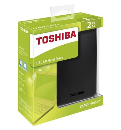 DISCO DURO TOSHIBA CANVIO BASICS 2TB 2.5 USB 3.0 - HD04TO04