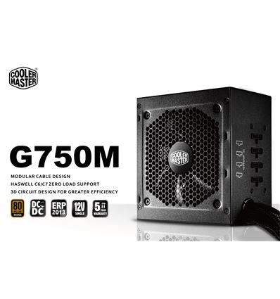FUENTE ALIMENTACION COOLER MASTER G750M 80+BRONZE - FA01CM04