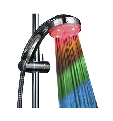 DUCHA LED, MULTICOLOR POR TEMPERATURA UNOTEC - ducha-led-cambia-de-color-con-la-temperatura