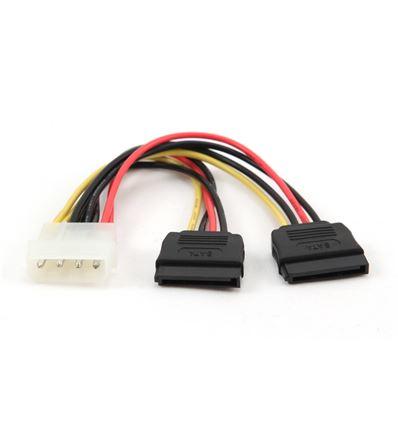 Cable Alimentación Molex/SATA 15 cm Doble - Cable-molex-sata-doble