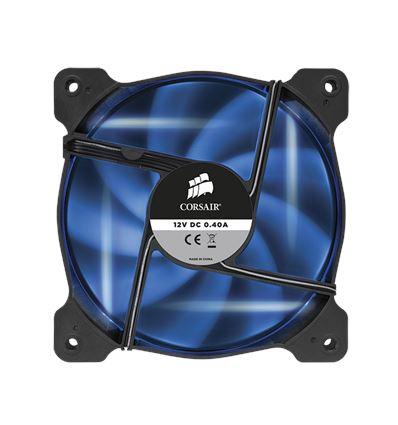 VENTILADOR CAJA CORSAIR AIR AF120 BLUE LED - Corsair-af120-blue
