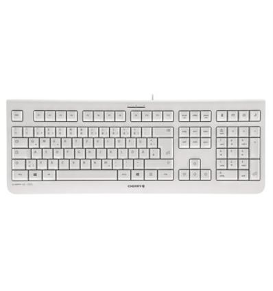 TECLADO CHERRY KC 1000 BLANCO - Cherry-kc1000-white