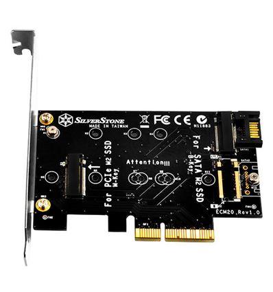 ADAPTADOR SILVERSTONE ECM20 PCI Express a M.2 - AD10SN01