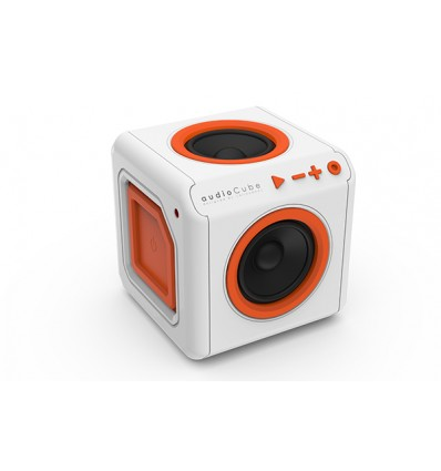 AudioCube Bluetooh Naranja/Blanco