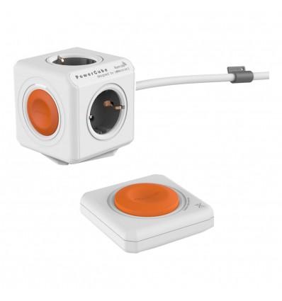 Regleta PowerCube Naranja 4 tomas + cable + mando