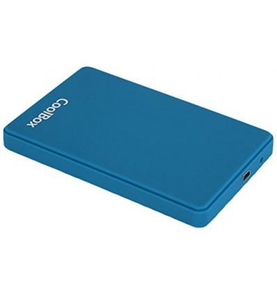 "Coolbox SCG2543 Caja externa 2.5"" USB 3.0 Azul Oscuro"