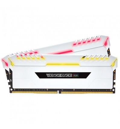MEMORIA CORSAIR 16GB DDR4 3000 (2X8GB) LED RGB WHI