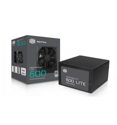 Cooler Master Masterwatt Lite 600 W - Fuente de alimentación