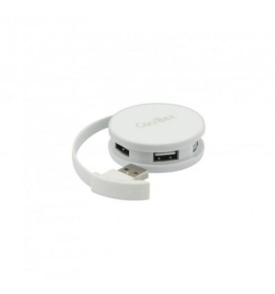 HUB USB Coolbox Smart Blanco USB 2.0 4 puertos