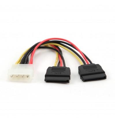 Cable de alimentación Molex/SATA 15 cm Doble