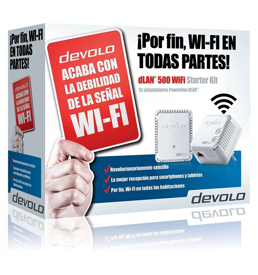 pack 2 plc wifi barato devolo dlan 500 wifi starter kit. Black Bedroom Furniture Sets. Home Design Ideas