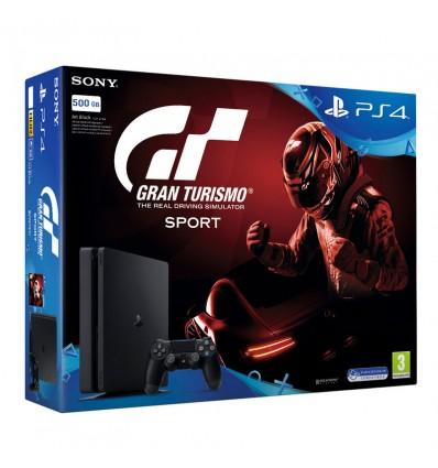 VIDEOCONSOLA SONY PS4 SLIM 500GB+2 MANDOS+GT SPORT