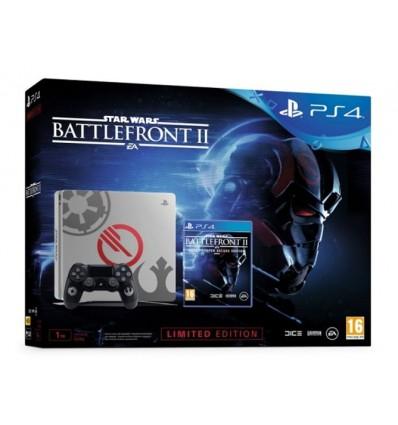 VIDEOCONSOLA SONY PS4 1TB + S.WARS BATTLE FRONT II