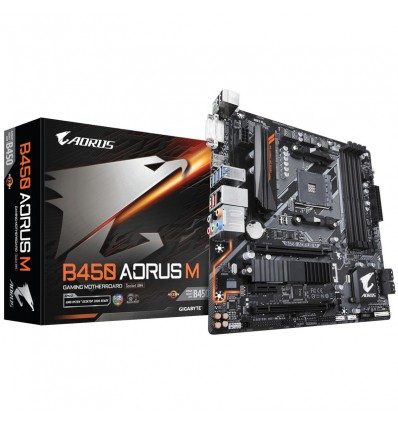 PLACA BASE GIGABYTE B450 AORUS M SOCKET AM4