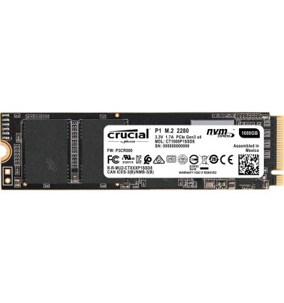 DISCO SSD CRUCIAL 1TB P1 M.2 CT1000P1SSD8