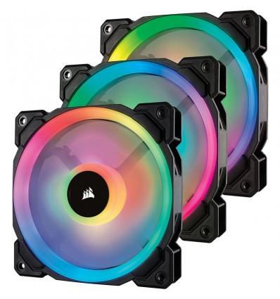 VENTILADOR CORSAIR CAJA LL120 RGB 120MM NEGRO 3
