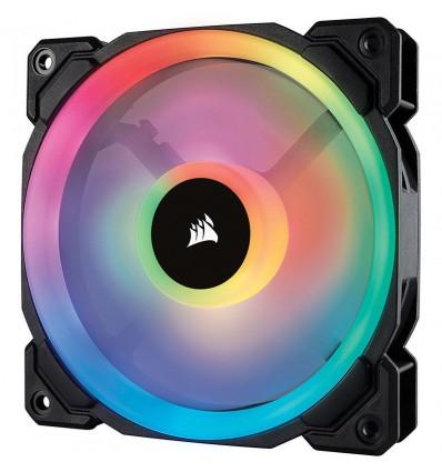 VENTILADOR CORSAIR CAJA LL120 120MM RGB LED NEGRO