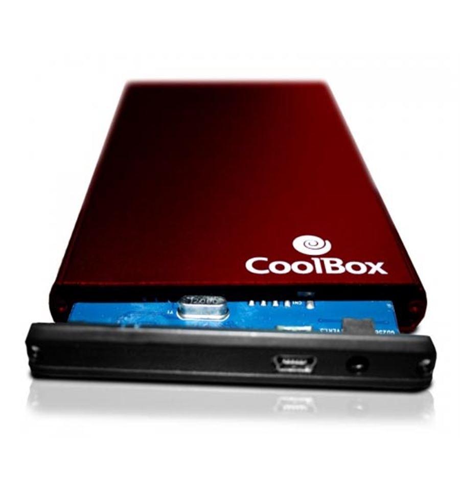 CoolBox Carcasa externa para discos duros de 2.5 Color rojo
