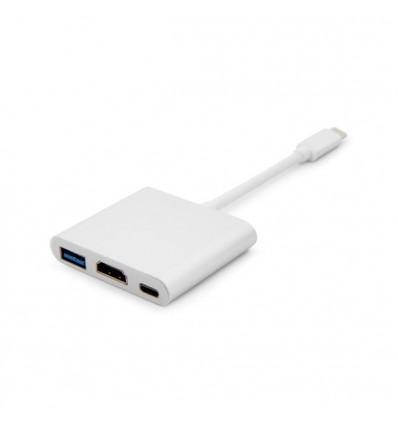 ADAPTADOR USB-C A USB 3.0 + HDMI + USB-C