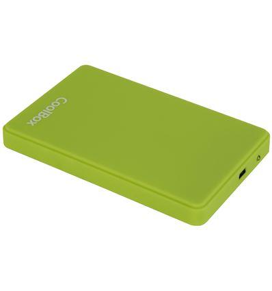 CAJA EXTERNA COOLBOX SCG2542 VERDE 2.5 USB 2.0 - CJ05CB04
