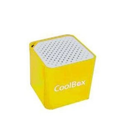 ALTAVOZ COOLBOX CUBE MINI AMARILLO BLUETOOTH - AL04CB01