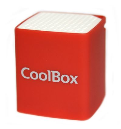 ALTAVOZ COOLBOX CUBE MINI ROJO BLUETOOTH - AL04CB03