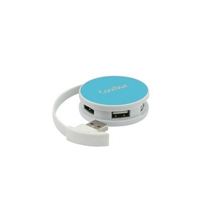 HUB USB COOLBOX SMART AZUL USB 2.0 4 PUERTOS - HB01CB01