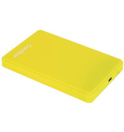 CAJA EXTERNA COOLBOX SCG2542 AMARILLO 2.5 USB 2.0 - CJ05CB01