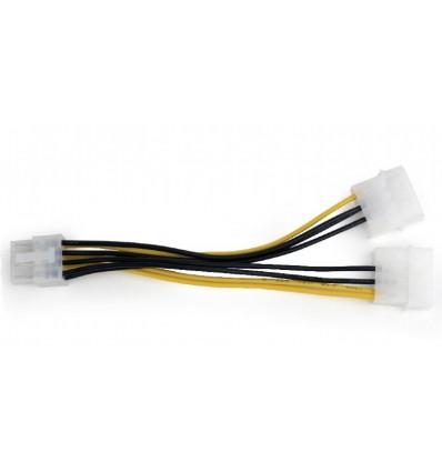 CABLE GEMBIRD MOLEX DOBLE 4PIN A 8PIN PCI