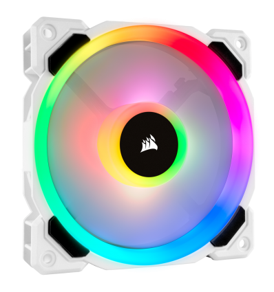 VENTILADOR CORSAIR LL120R RGB DUAL LIGHT LOOP WHIT