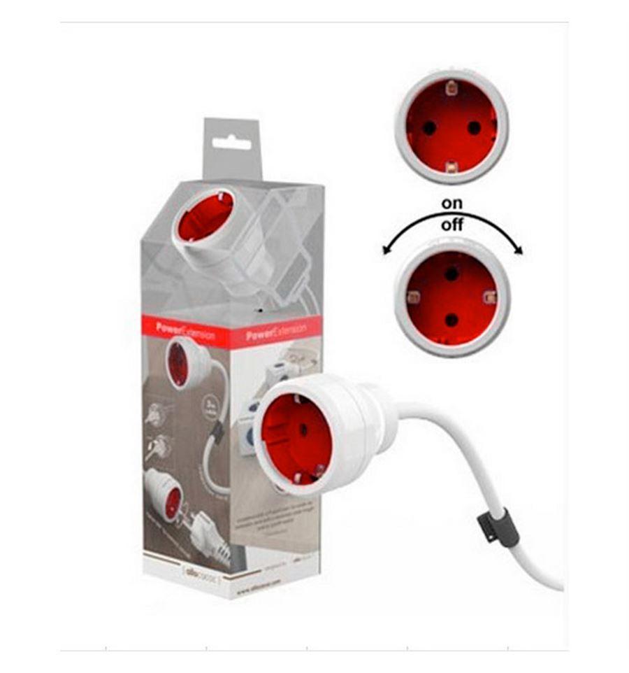 Powercube powerextension 3m rojo cable alargador de corriente for Alargador de corriente