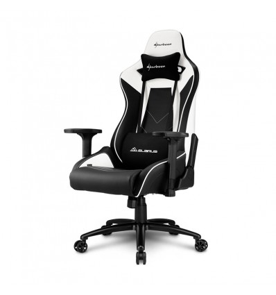 SILLA GAMING SHARKOON ELBRUS 3 NEGRO BLANCO 160G