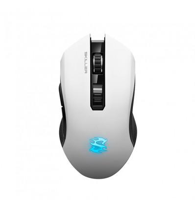 Sharkoon Skiller SGM3 Blanco RGB - Ratón gaming inalámbrico