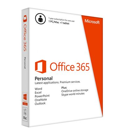 SOFTWARE MICROSOFT OFFICE 365 PERSONAL - SO04MC12