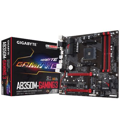 PLACA BASE GIGABYTE AB350M-GAMING 3 AM4 - AB350M-GAMING3
