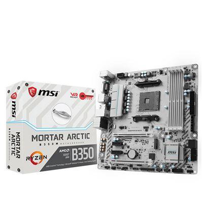 PLACA BASE MSI B350M MORTAR ARCTIC AM4 - MSI_B350M_MORTAR