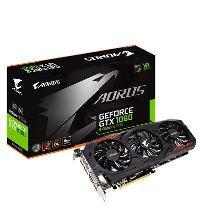 GRAFICA GIGABYTE AORUS GTX1060 6GB 9Gbps - GRAFICA GIGABYTE AORUS GTX1060 6GB 9Gbps