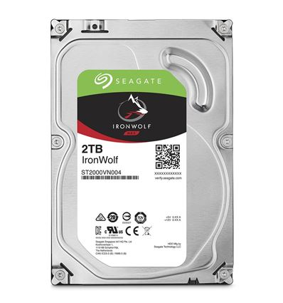 DISCO DURO SEAGATE 2TB IRONWOLF NAS ST2000VN004 - IRONWOLF 2TB
