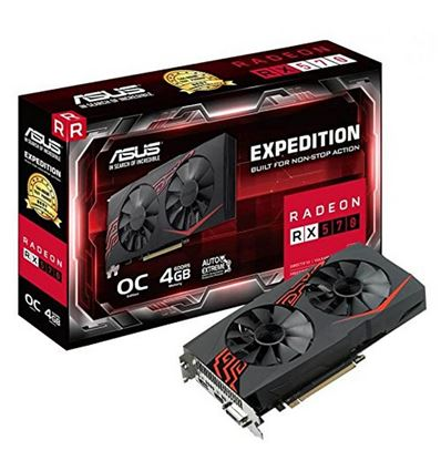 GRAFICA ASUS EXPEDITION RX 570 4GB OC - ASUS EXPEDITION RX 570
