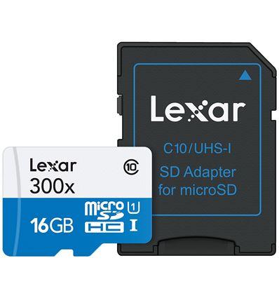 MEMORIA MICRO SD LEXAR 16GB CLASE 10 - SD03LR03