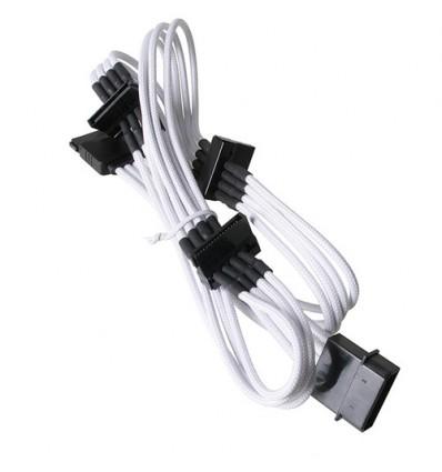 Cable alimentación molex/SATA 20 cm. blanco/negro